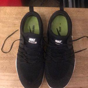 Nike Free black with white swoosh